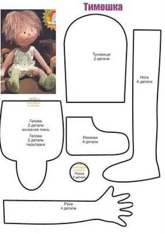 Кукла из ткани выкройка своими руками