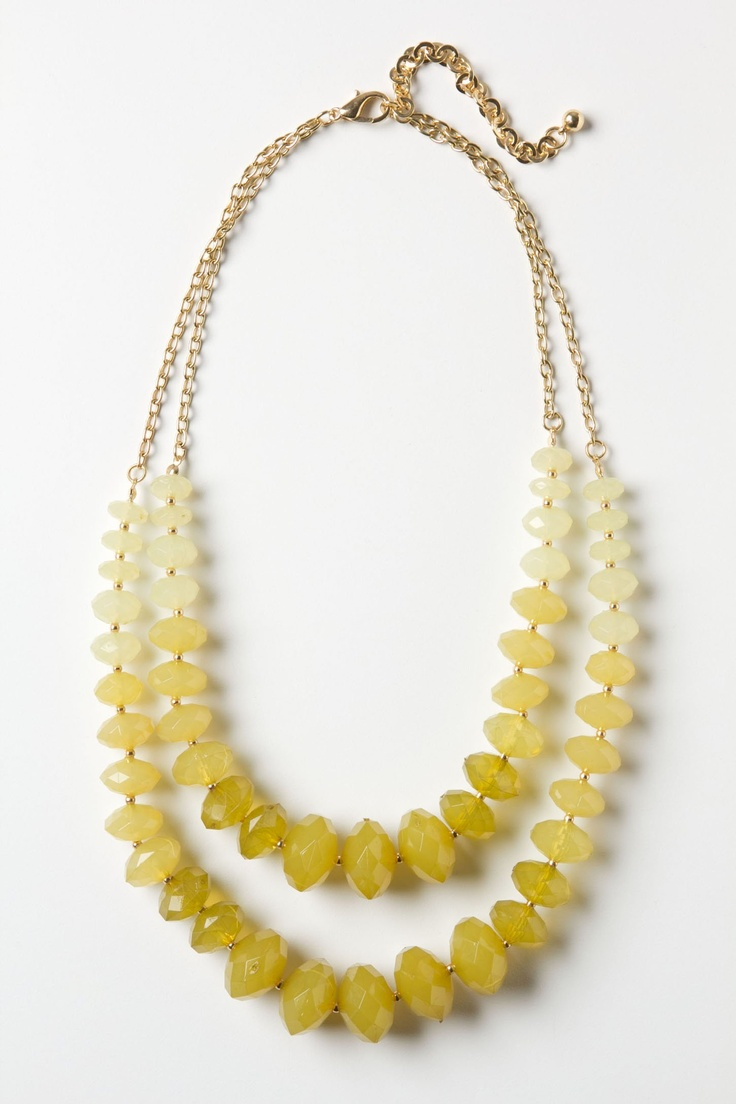 Mustard yellow ombre statement necklace fsu pinterest for Mustard colored costume jewelry