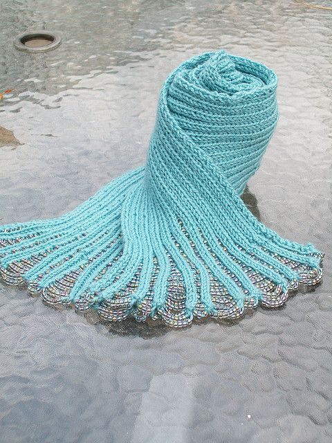 Knitting Patterns For Beaded Scarves : Waterfall Beaded Scarf Knit Fashion Pinterest