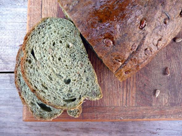 Sunflower Spinach Parmesan Peasant Bread