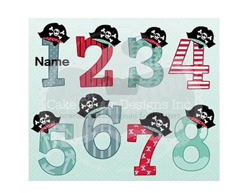 Pirate Numbers icing sheet | Party Ideas | Pinterest