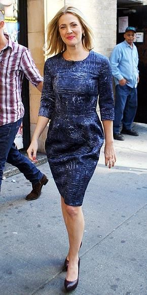 Who made Drew Barrymore's purple shoes? Shoes – Ferragamo Drew Barrymore