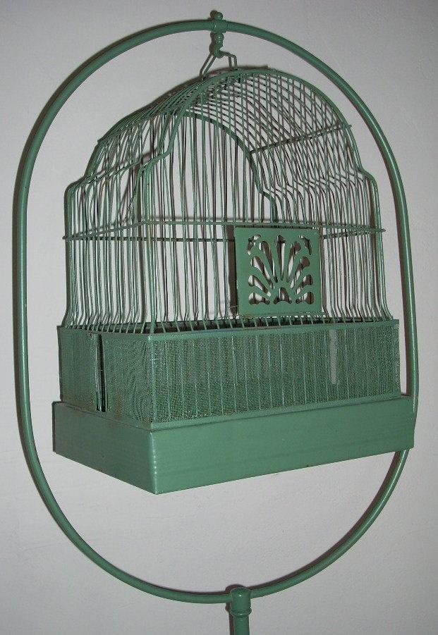 Antique Metal Bird Cage Birdcage Stand | House | Pinterest