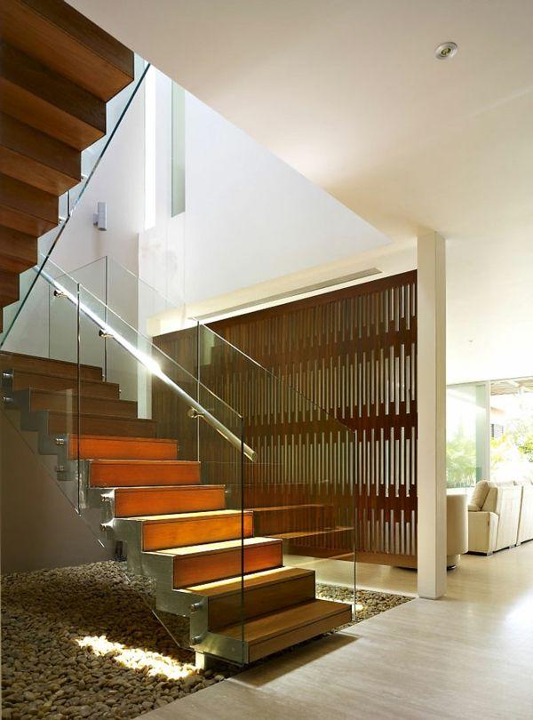 luxury minimalist interior staircase stairs pinterest