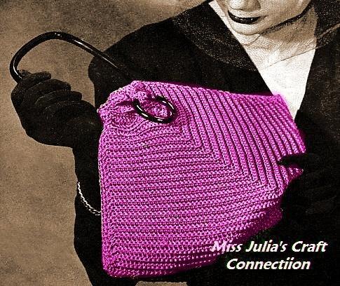 Vintage 1945 Fancy Ridge Triangle Purse 218 PDF Digital Crochet ...