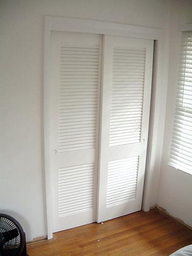 louvered white sliding closet door images