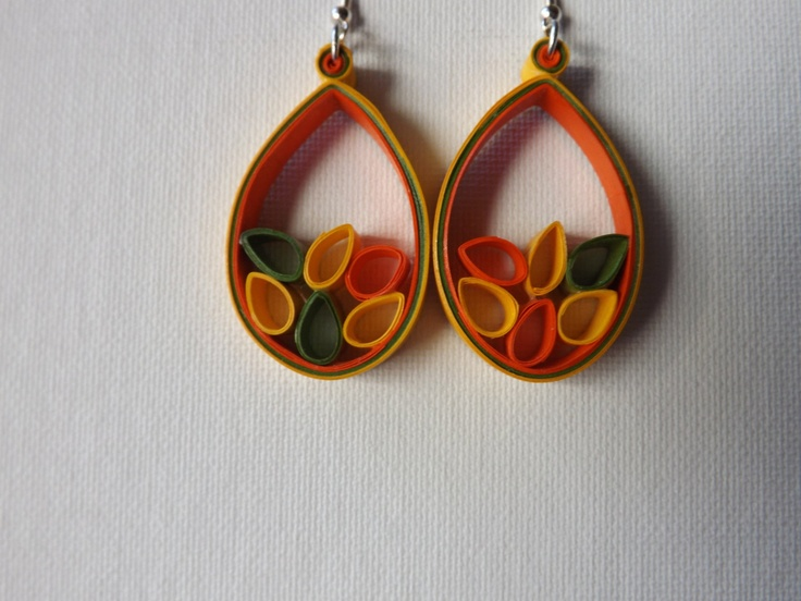 Seed Quilled Earrings