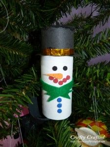 Easy Christmas Craft | Toilet Paper Tube Snowman Ornament