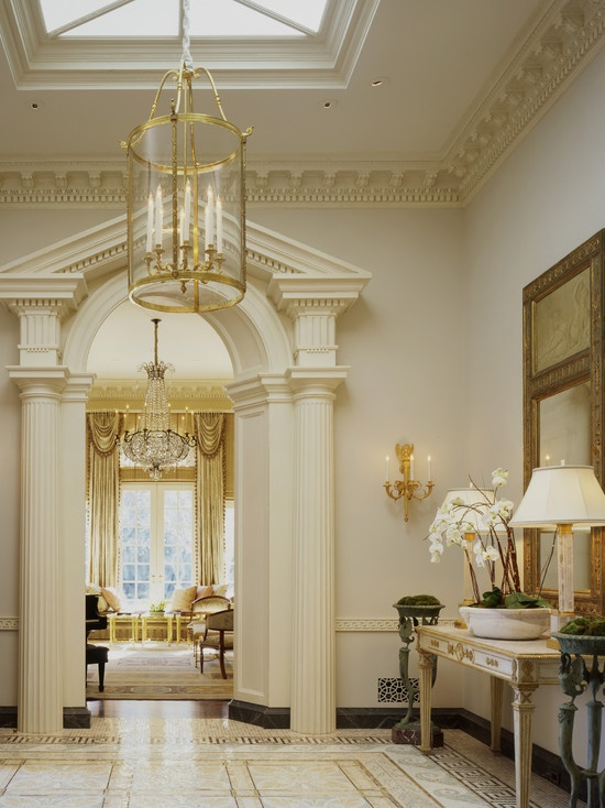 Georgian foyer dream home pinterest for Elegant foyer decor