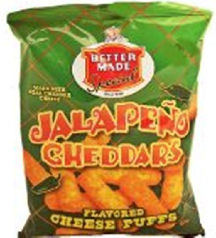 Better Made Jalapeno Cheddar Cheese Puffs. AMAZEBALLS!