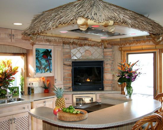 Tropical Kitchen Design Indoor Decor Pinterest