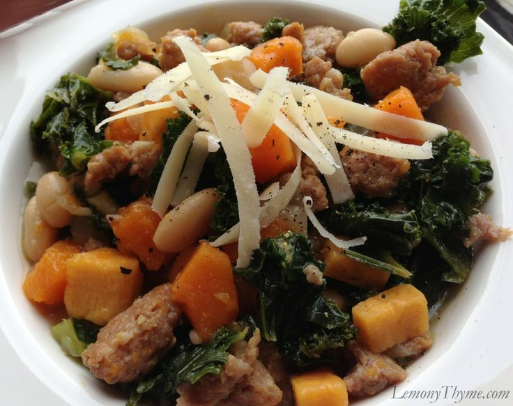 Kale with Sausage White Beans