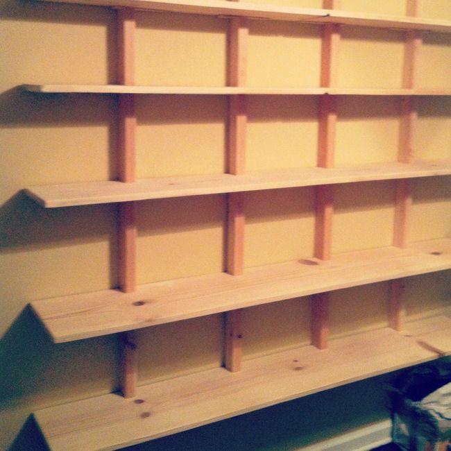 Diy book shelves cheap diy projects pinterest - Cheap storage shelves diy ...