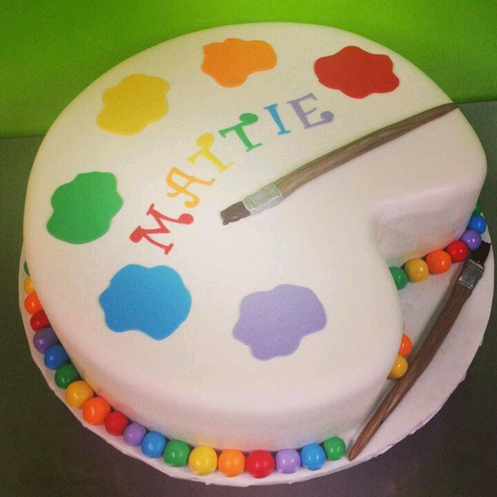 Cake With Artist Palette : Paint palette cake Party Ideas Pinterest