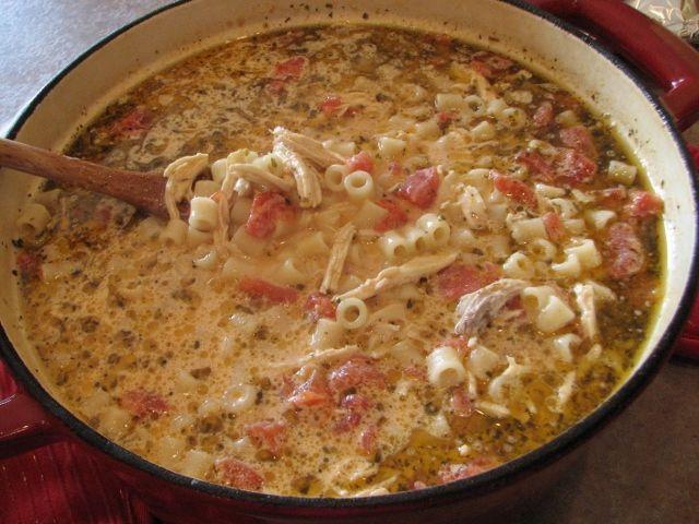 Creamy Italian Chicken Noodle Soup -