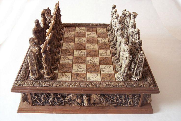 Stone chess set my mind palace pinterest - Granite chess set ...