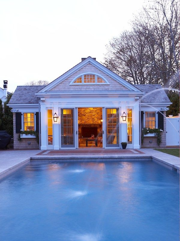 Pin by candace tron keeler on guest cottage pool house for Guest house pool house plans