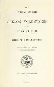 Oregon in the Philippines Gantenbein, C. U. https://openlibrary.org