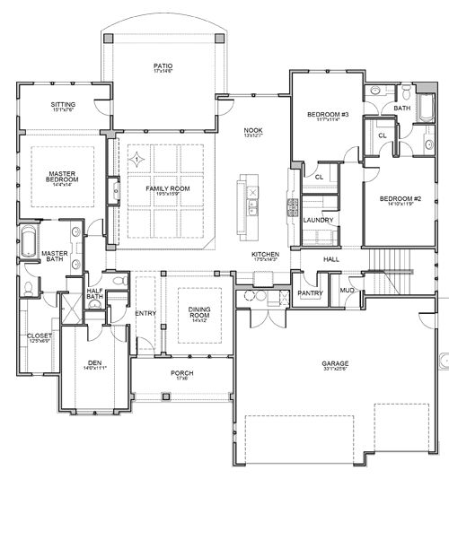 Nuburgh Floor Plan By Brighton Homes House Plans Pinterest