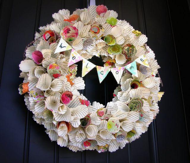 Paper Cone Wreath Tutorial Cards Paper Art Pinterest