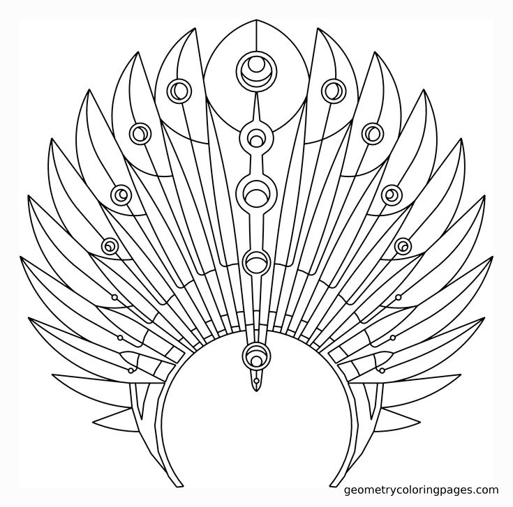 Indian Feathers Coloring Pages