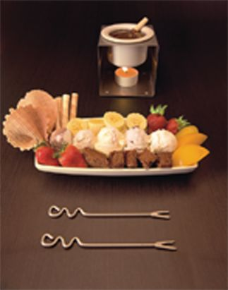... chocolate fondue. Don't blame me, I`m a big Crepes & Waffles lover
