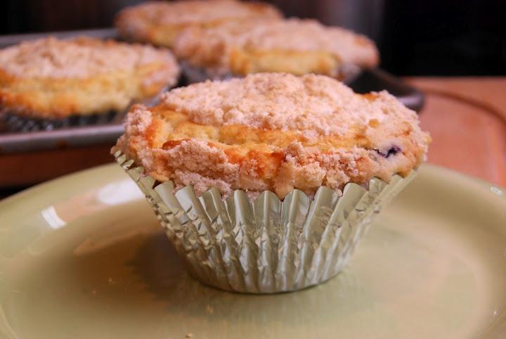 blueberry sour cream muffins | Breads | Pinterest