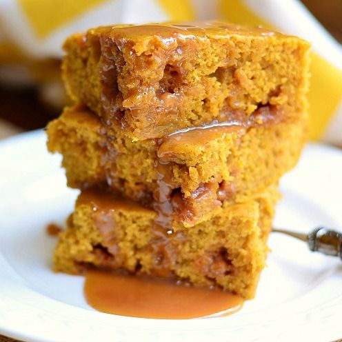 ... Caramel Blondies…pumpkin and caramel are a match made in heaven