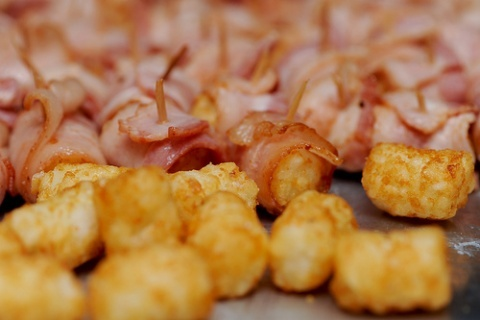Bacon Wrapped Tater Tots...   Food Stuff   Pinterest