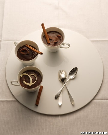 Lighter Chocolate Cinnamon Pudding - made with fat-free milk. I would ...