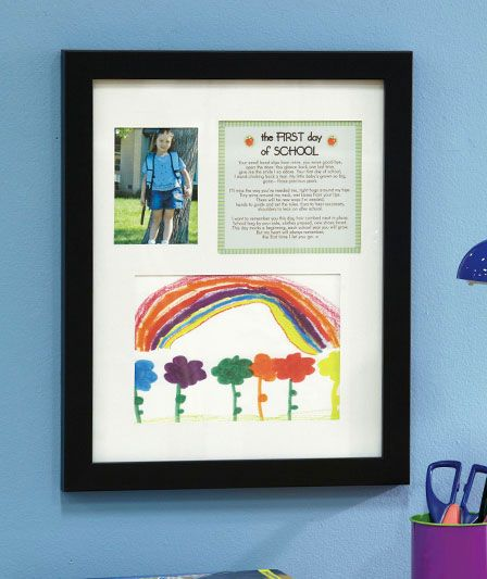 First Day of School Keepsake Frame