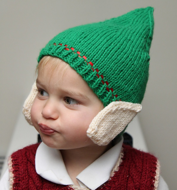 Elf Hat with Ears pattern by Becca Cook