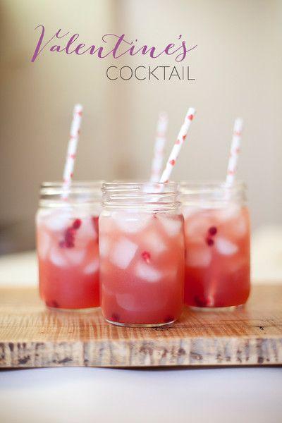 Valentine's day cocktail. apple, ginger, cranberry vodka cocktail.
