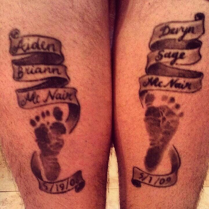 Baby Footprints Tattoos Designs Funny