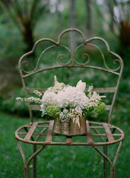 rustic outdoor garden chair
