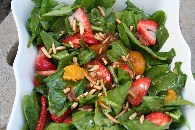 Spring Salad With Strawberry Lemon Basil Dressing Recipe — Dishmaps