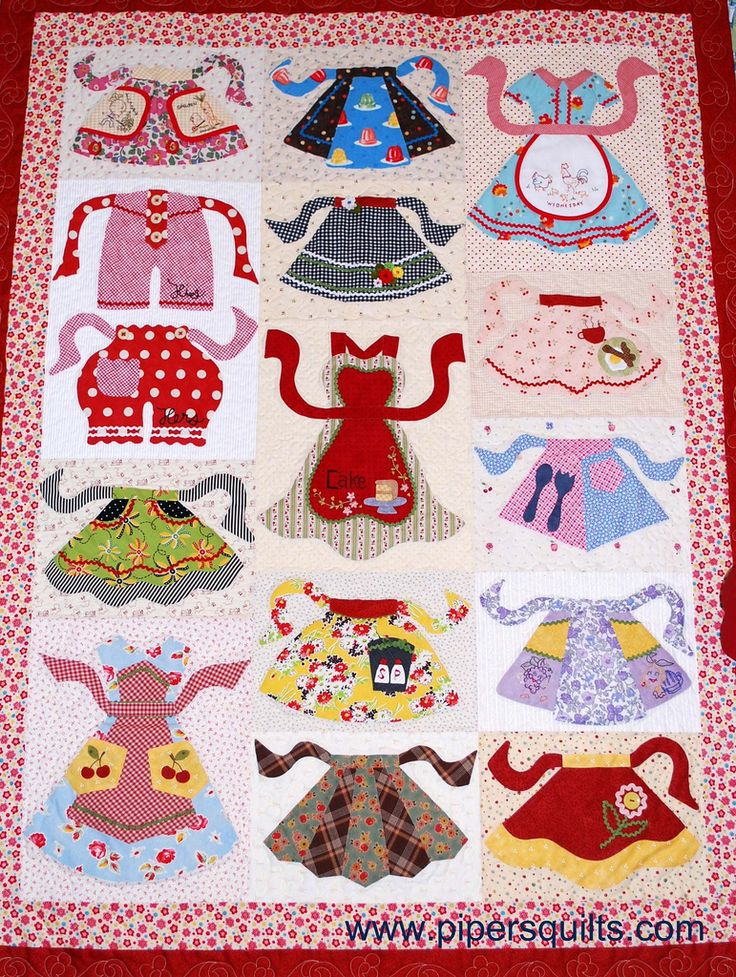 Apron Club Quilt from Pipers Quilts ~ Apronology Pinterest
