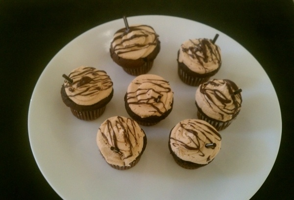 These taste sooo good!! Mini cafe mocha cupcakes