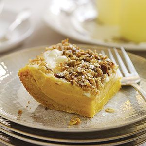 Sweet Potato Cheesecake Squares | With My Apron On | Pinterest