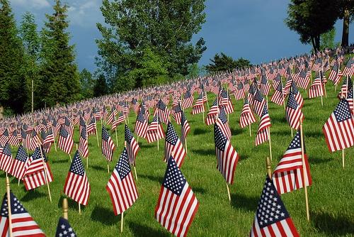 memorial day tribute in folsom field