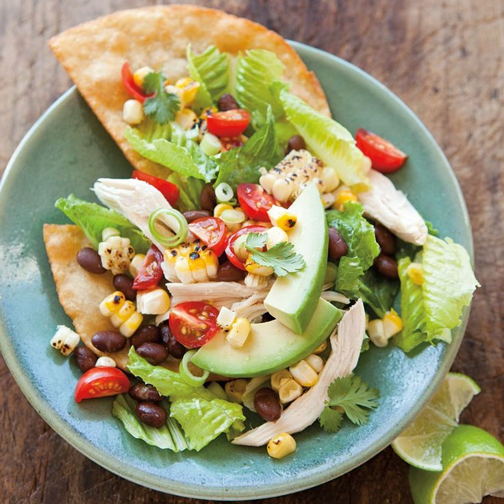 Chicken Tostada Salad | Healthy Main Dishes To Try | Pinterest