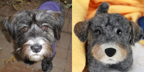 Send a picture of your dog and they'll make you a stuffed one. The money goes to help shelter animals. THIS IS SO CUTE....