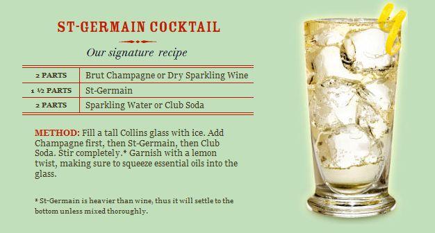 how to drink st germain liqueur