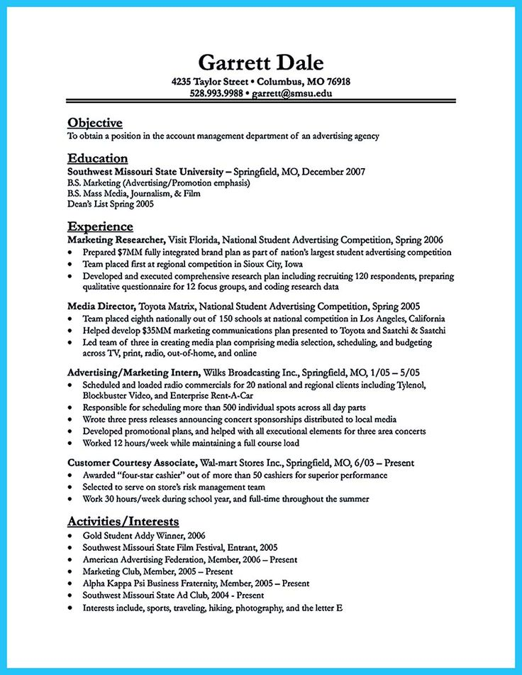 Examples of interests on a resume