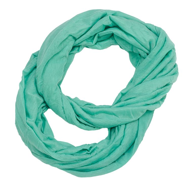 solid color infinity jersey scarf mint green