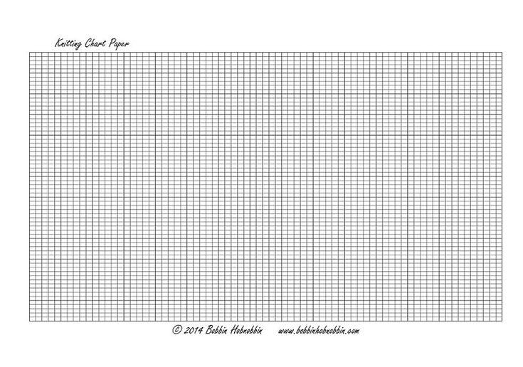 Knitting Graph Paper : A4 Knitting Chart Paper Landscape Knitting-Tools Pinterest