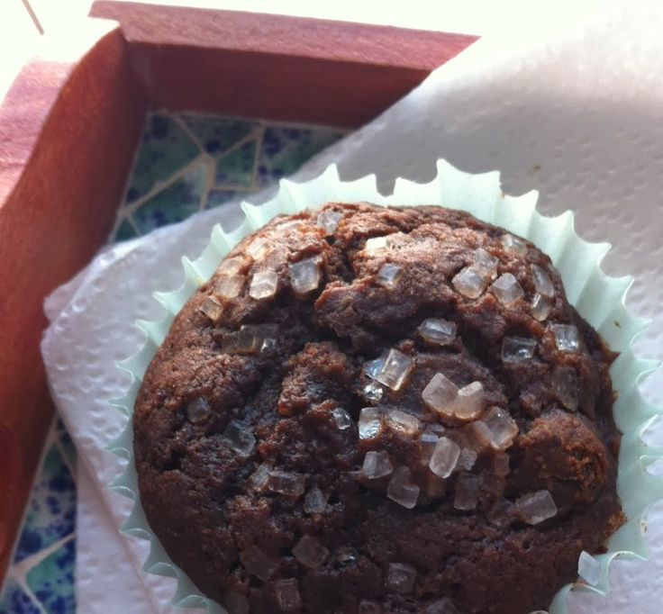... virtuous, totally delicious recipe for Double Chocolate-Cherry Muffins