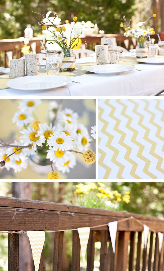 yellow baby shower party ideas pinterest