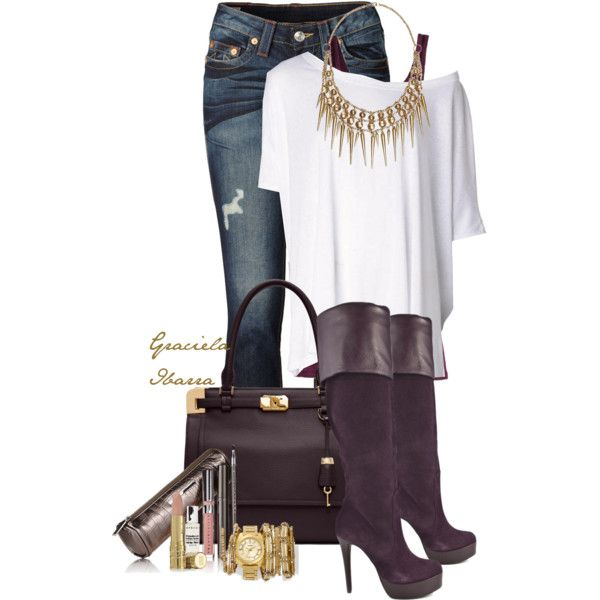 """Egg plant or plum?"" by grachy on Polyvore"