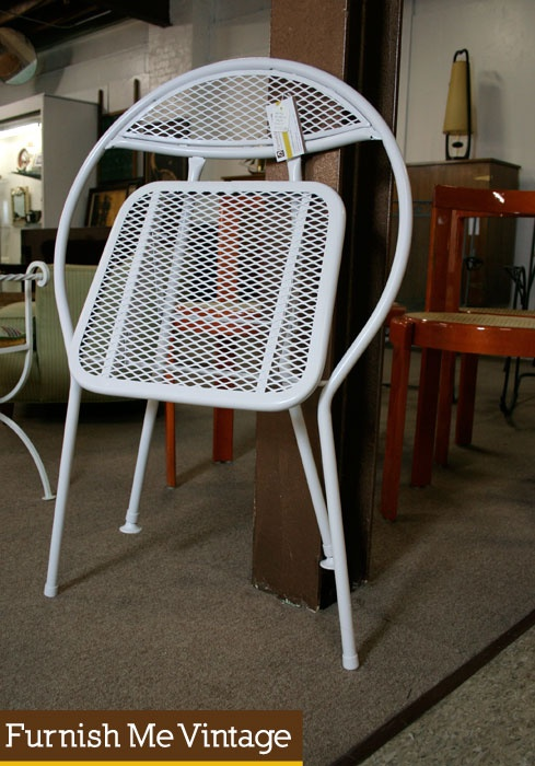 Salterini style clam shell folding chairs furnish me vintage